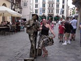 With street artist in Monaco Bavaria